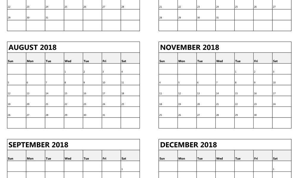 Free Printable 6 Month Calendar Blank Calendar Template   Isacl_6 Month Blank Calendar Template