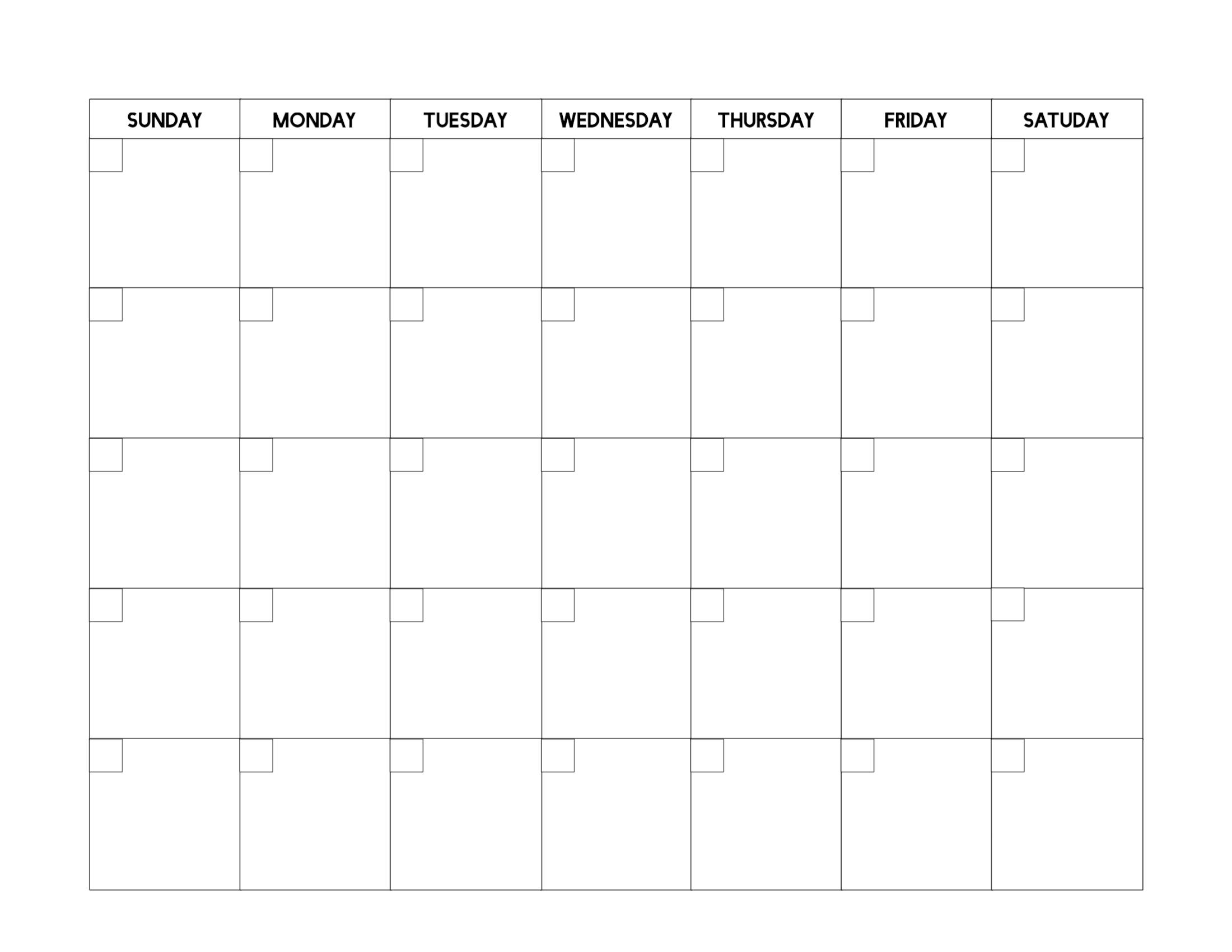 Free Printable Blank Calendar Template - Paper Trail Design_A Printable Blank Calendar