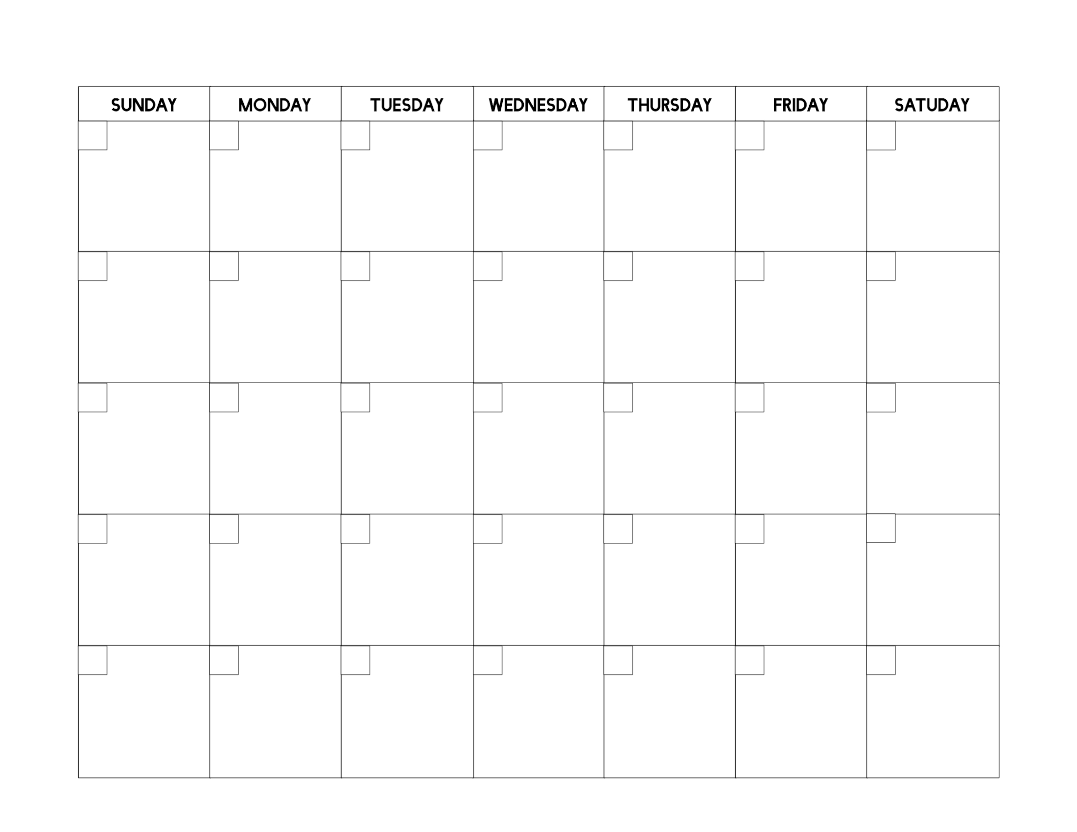 Free Printable Blank Calendar Template - Paper Trail Design_Free Calendar Blanks To Print