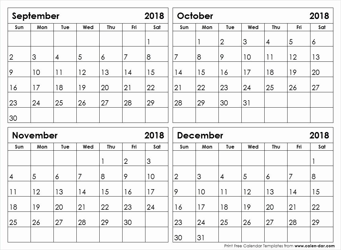 Free Printable Calendar 4 Month • Printable Blank Calendar Template_Blank Calendar 4 Month