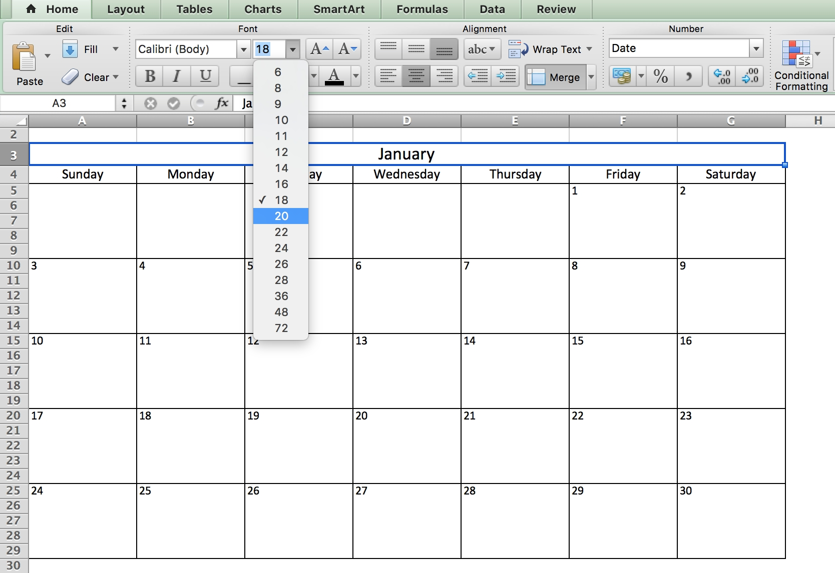 Free, Printable Excel Calendar Templates For 2019 & On | Smartsheet_Calendar Icon In Excel