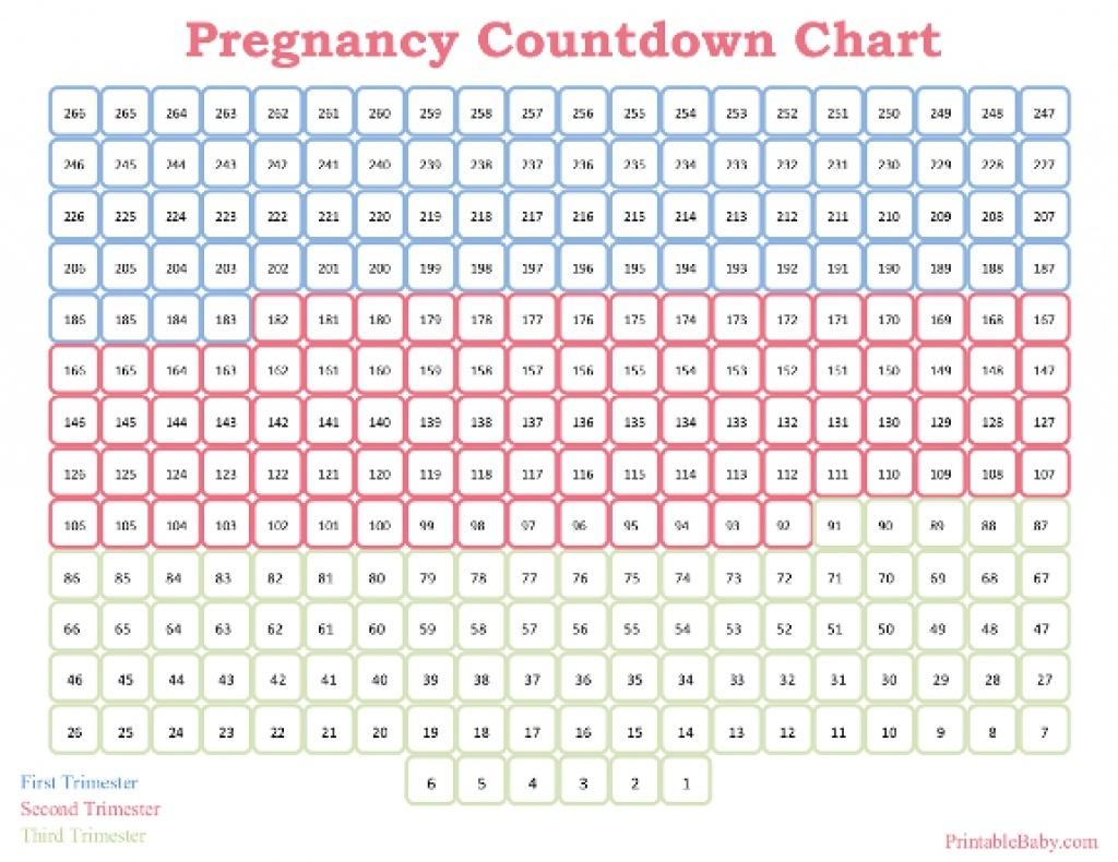Free Printable Pregnancy Calendar - Bgadv_8 Week Countdown Calendar