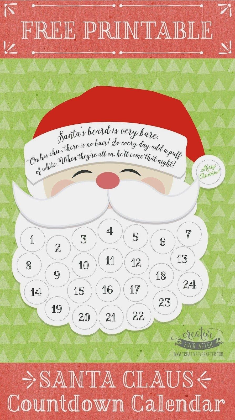 Free Printable} Santa Claus Beard Countdown Calendar  </p>   </div>        <br>     <div class=