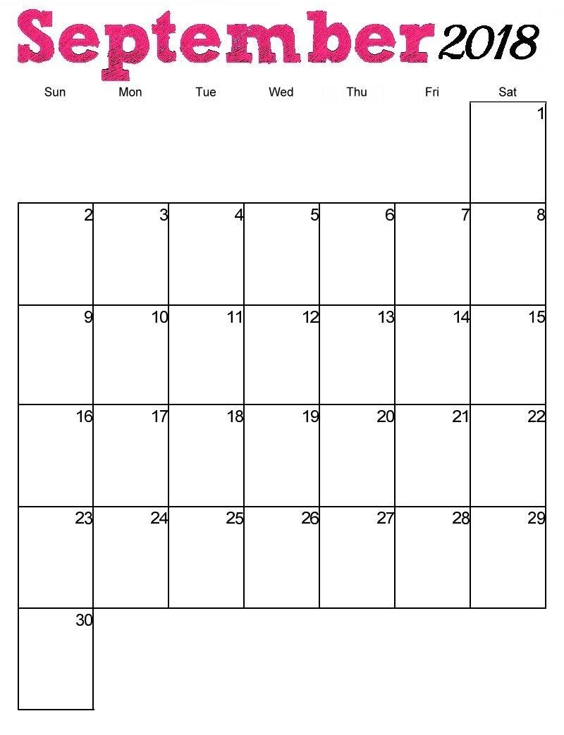 Free Printable September 2018 Vertical Calendar  </p>   </div>        <br>     <div class=