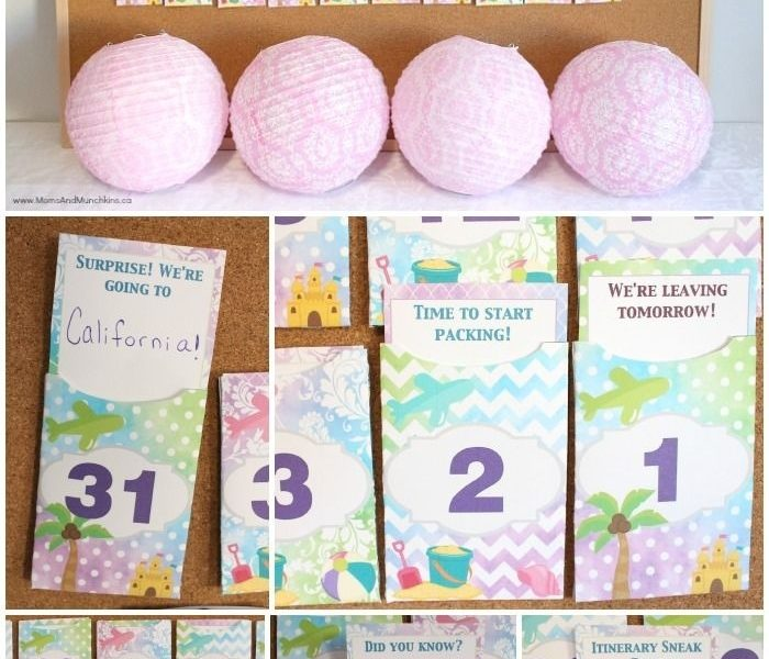 Free Printable Vacation Countdown Calendar | Crafts | Vacation_Ideas For A Countdown Calendar