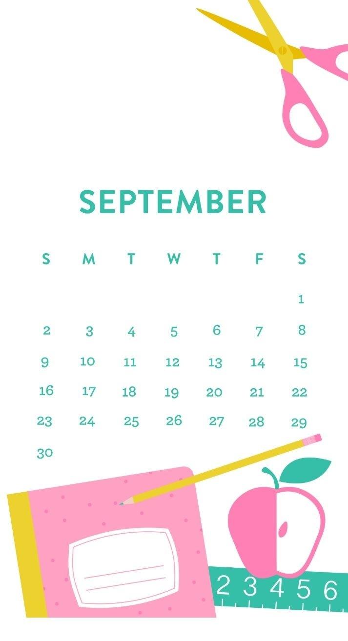 Free September 2018 Iphone Calendar | Calendar 2018 | Calendar_Iphone 6 Calendar Blank