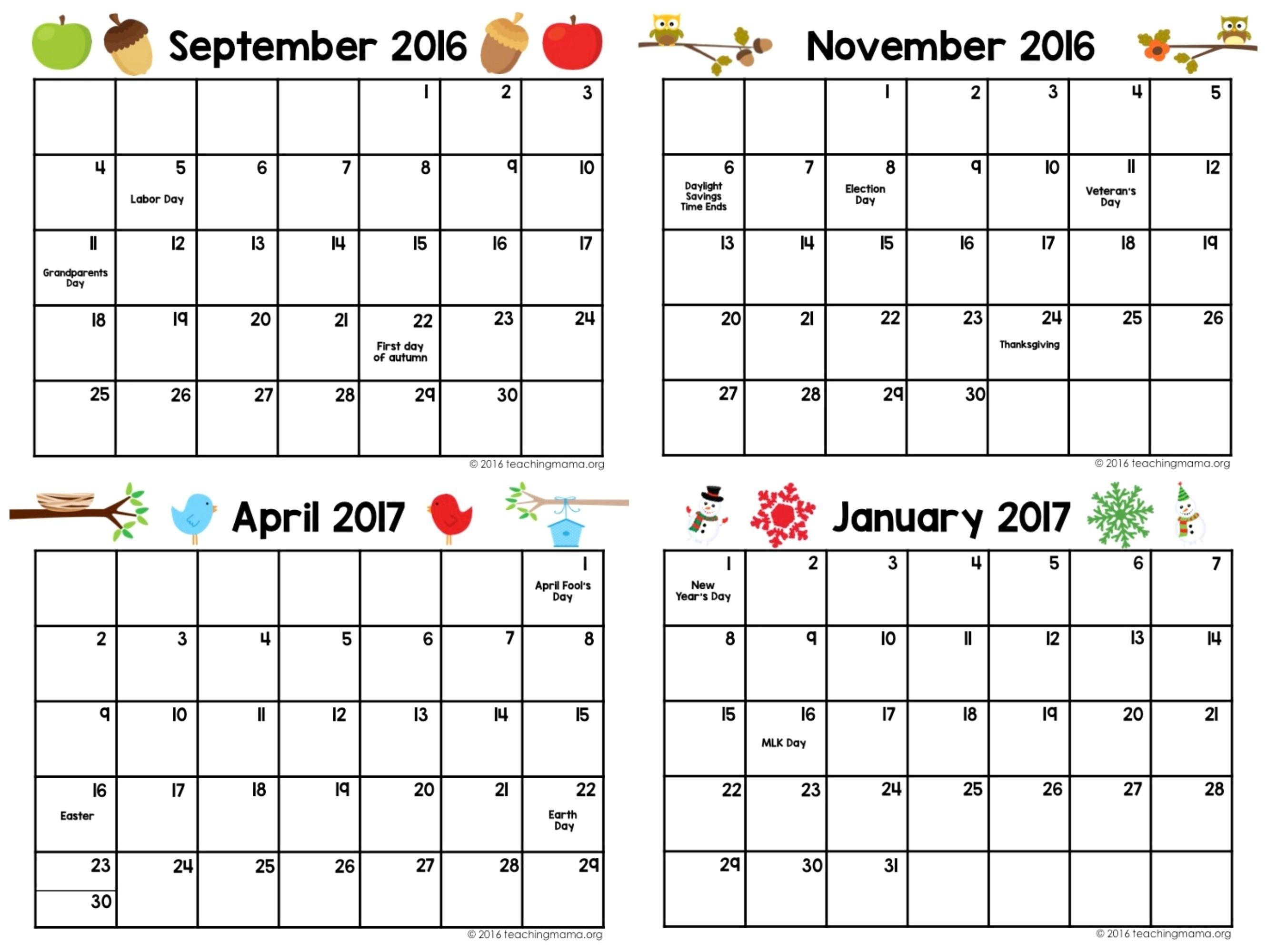 Free Weekly Calendar Template 2015 13 Printable Preschool Planner_Free Printable Calendar Preschool