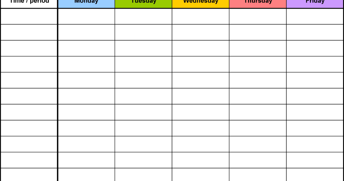 Free Weekly Schedule Templates For Word - 18 Templates_Week Calendar Blank Template