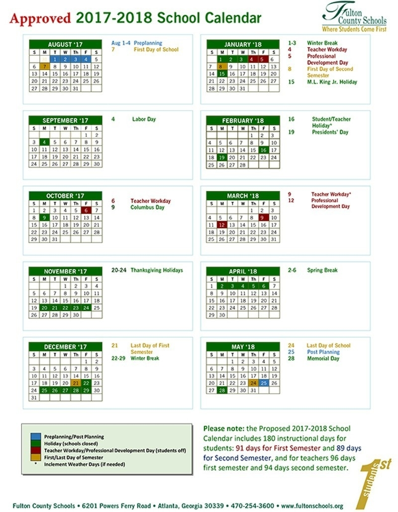 Fulton County Schools Calendar 2017  </p>   </div>        <br>     <div class=