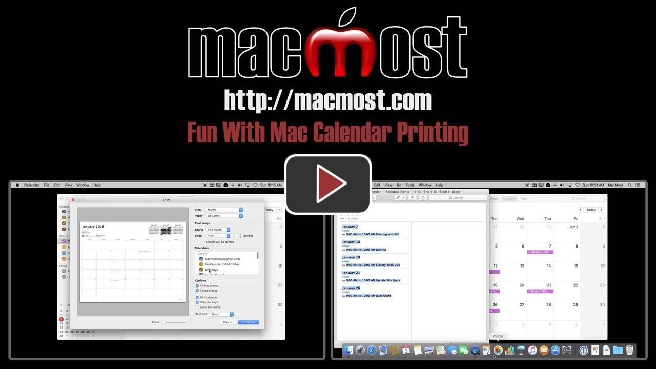 Fun With Mac Calendar Printing (#1163)_Printing Calendar On Mac