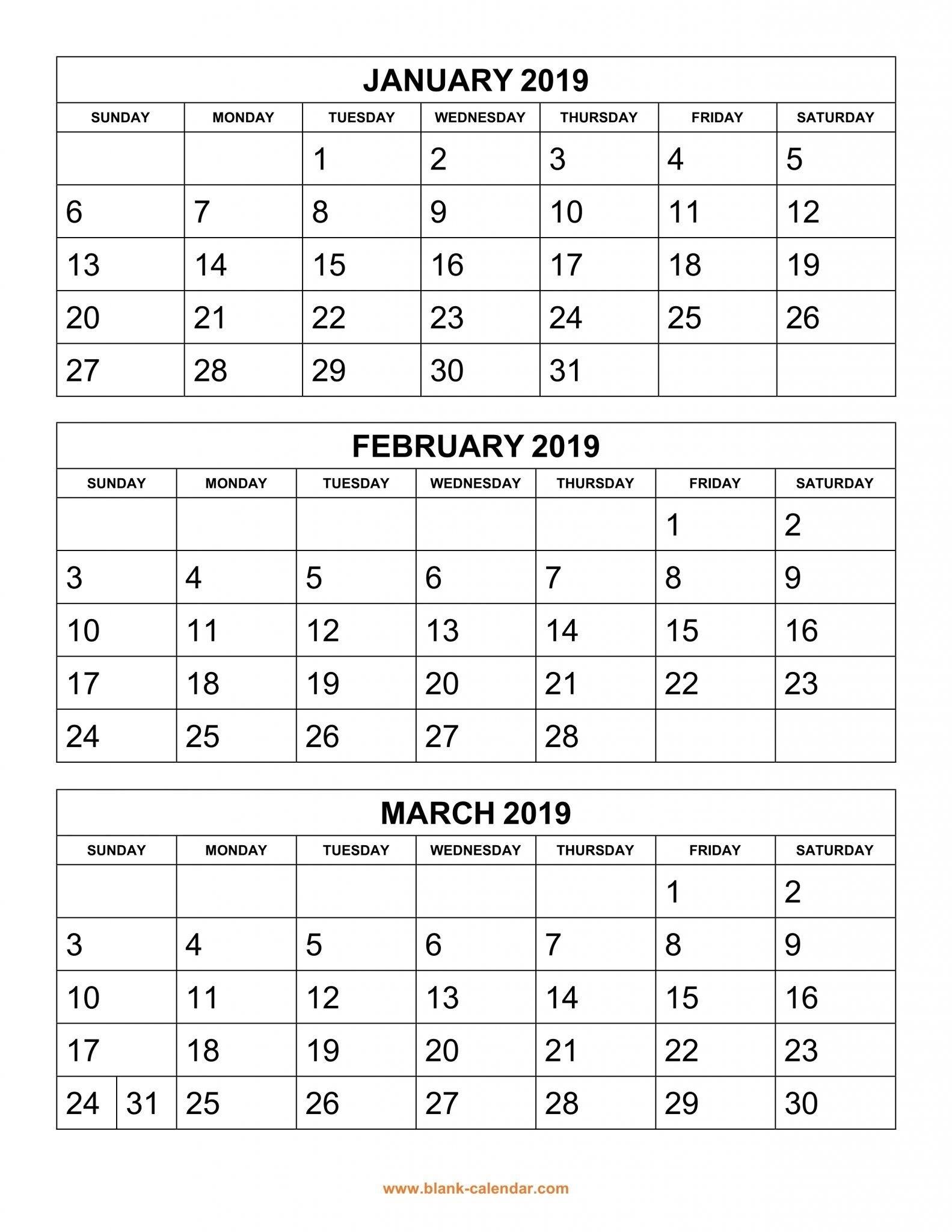 Get Free 2019 3 Month Calendar Templates Printable Download  </p>   </div>        <br>     <div class=
