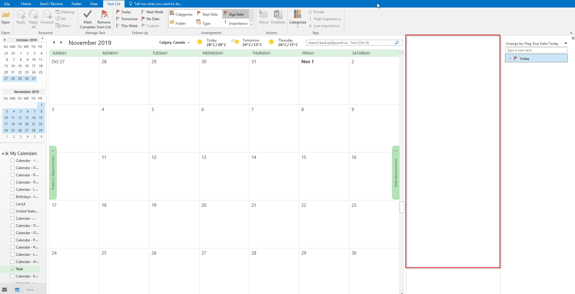 Get Rid Of The Vertical Blank Column In Outlook Calendar_Calendar Blank In Outlook