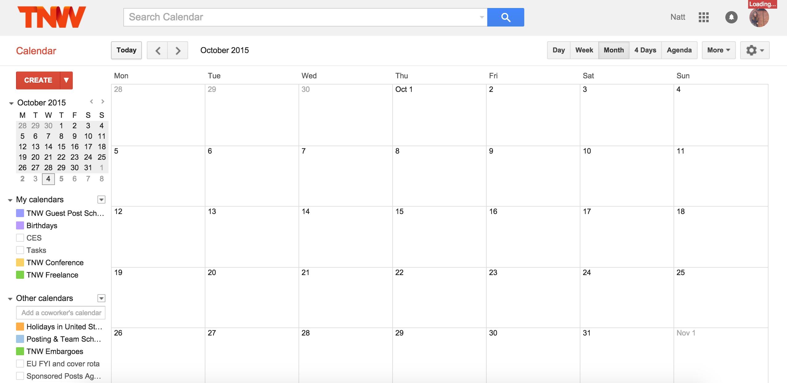 Google Calendar Is Down, Consider All Your Meetings Screwed [Updated]_Google Calendar Gone Blank