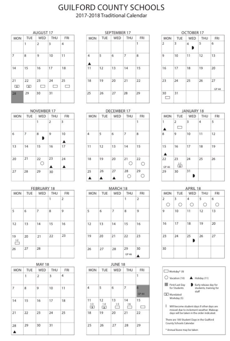 "Gsofamilies On Twitter: ""today Is Guilford County Schools_School Calendar Guilford County Nc"