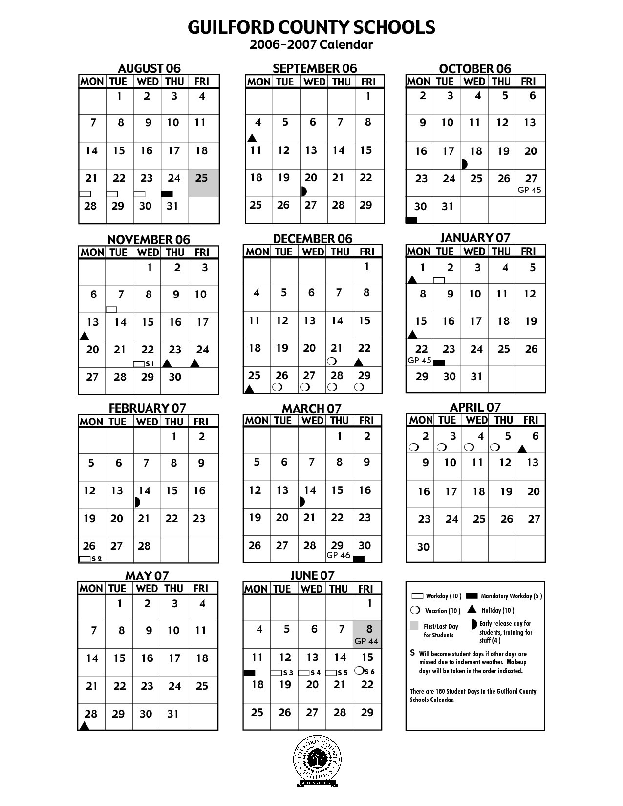 Guilford County Schools Calendar 2018 Guilford County Schools_School Calendar Guilford County Nc