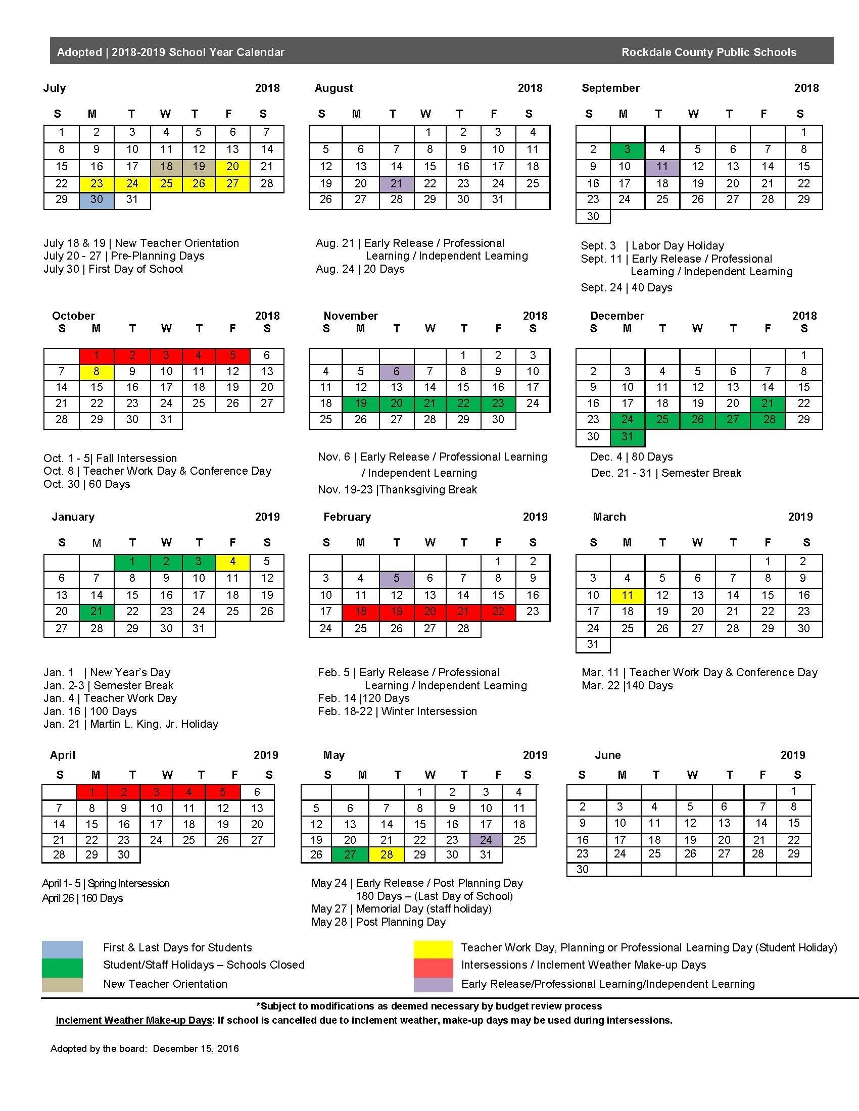 Gwinnett County School Calendar 2019 | Isacl_School Calendar Gwinnett 2020
