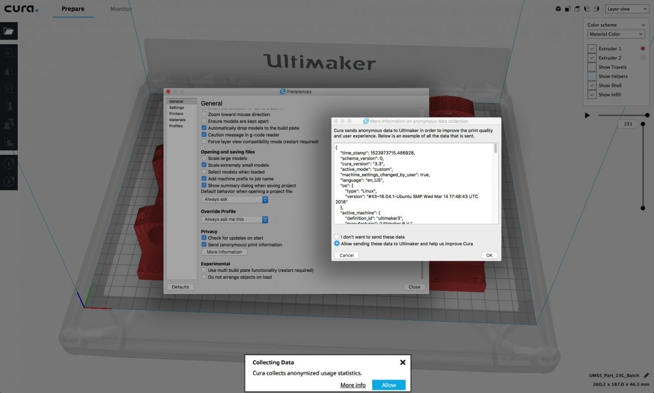 High-Performance 3D Printing With Ultimaker Cura 3.4_Calendar Printing Assistant Error Message