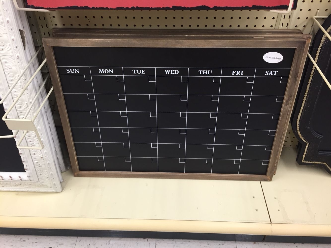 Hobby Lobby-Calendar Chalkboard! Make Sure To Use The 40% Off Coupon_Blank Calendar Hobby Lobby