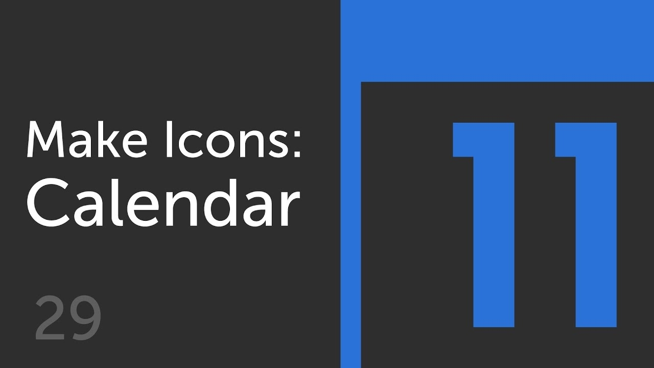 How To Make A Calendar Icon | Make Icons 29_Make A Calendar Icon