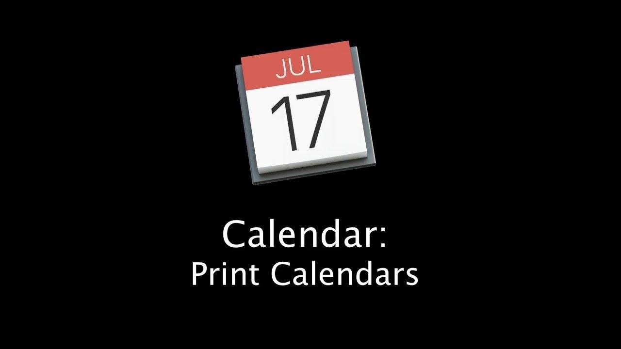How To Print Calendars With The Mac Calendar App_Printing Calendar On Mac