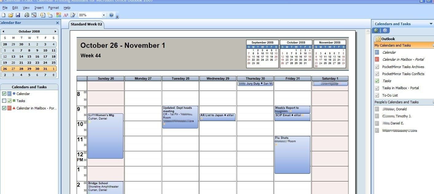 How To Print Multiple Outlook Calendars And Tasks In Overlay Mode_Outlook Calendar Printing Tools