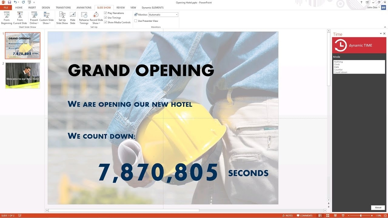 How To Run A Live Countdown Timer In Powerpoint_Countdown Calendar Windows 7