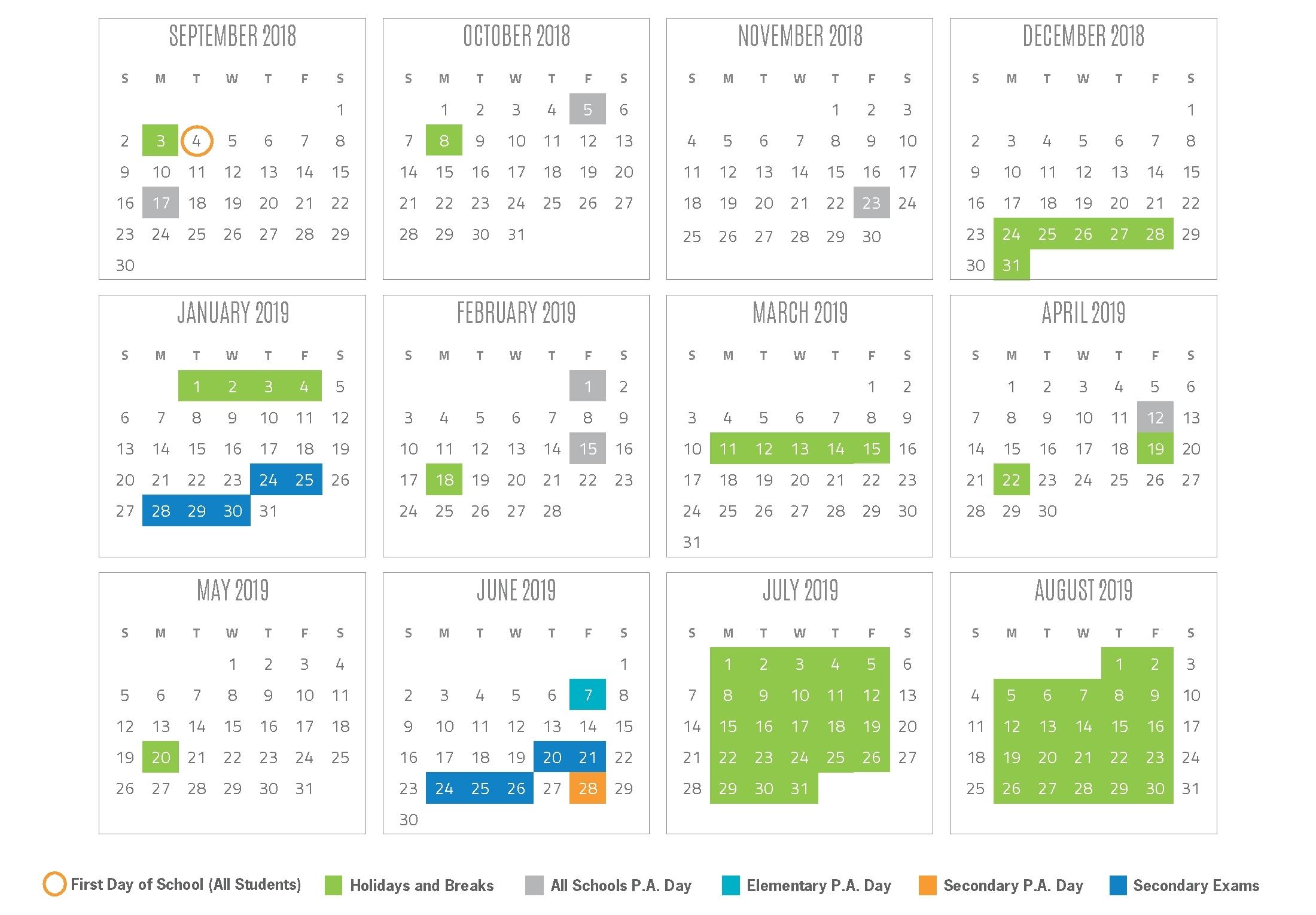 Impressive 7 Hills School Calendar 2019 • Printable Blank Calendar_7 Hills School Calendar