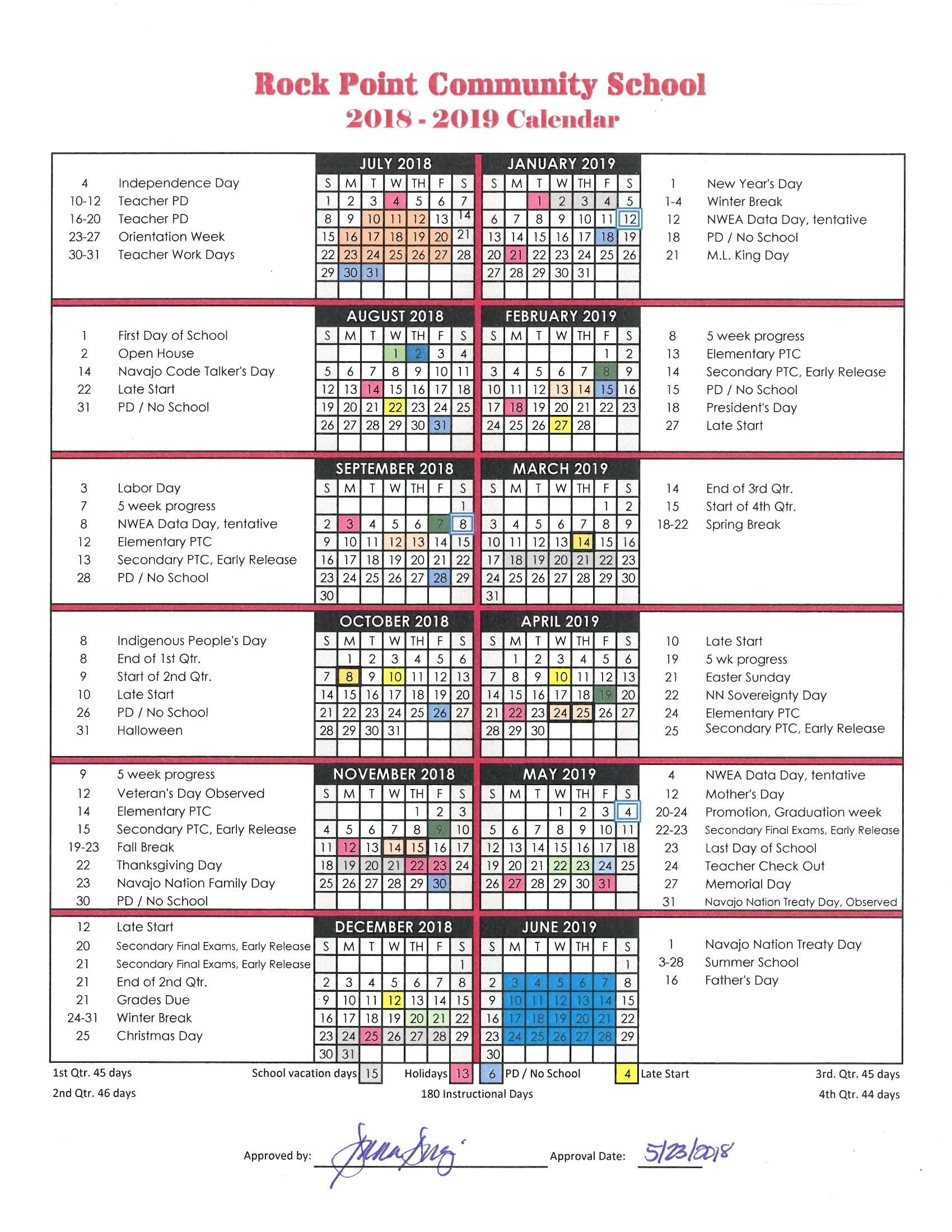Impressive H-F High School Calendar • Printable Blank Calendar Template_H-F High School Calendar
