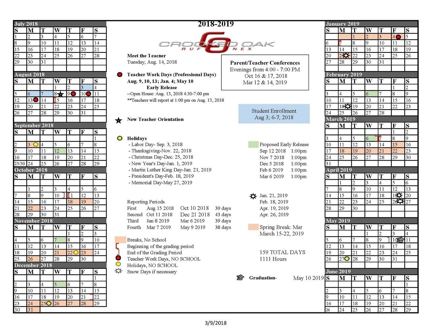 Impressive School Calendar District 34 • Printable Blank Calendar_School Calendar District 34