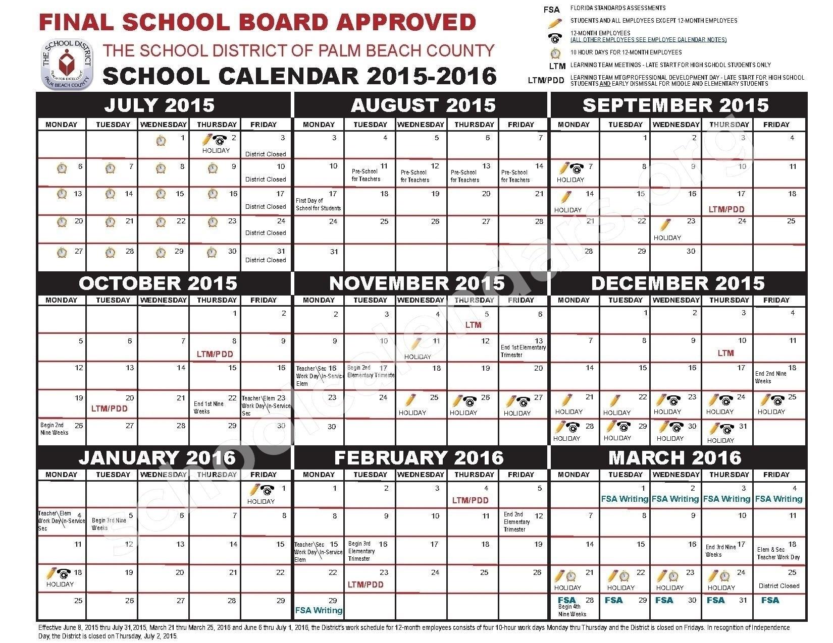 Impressive School Calendar Osceola County • Printable Blank Calendar_School Calendar Osceola County 2020