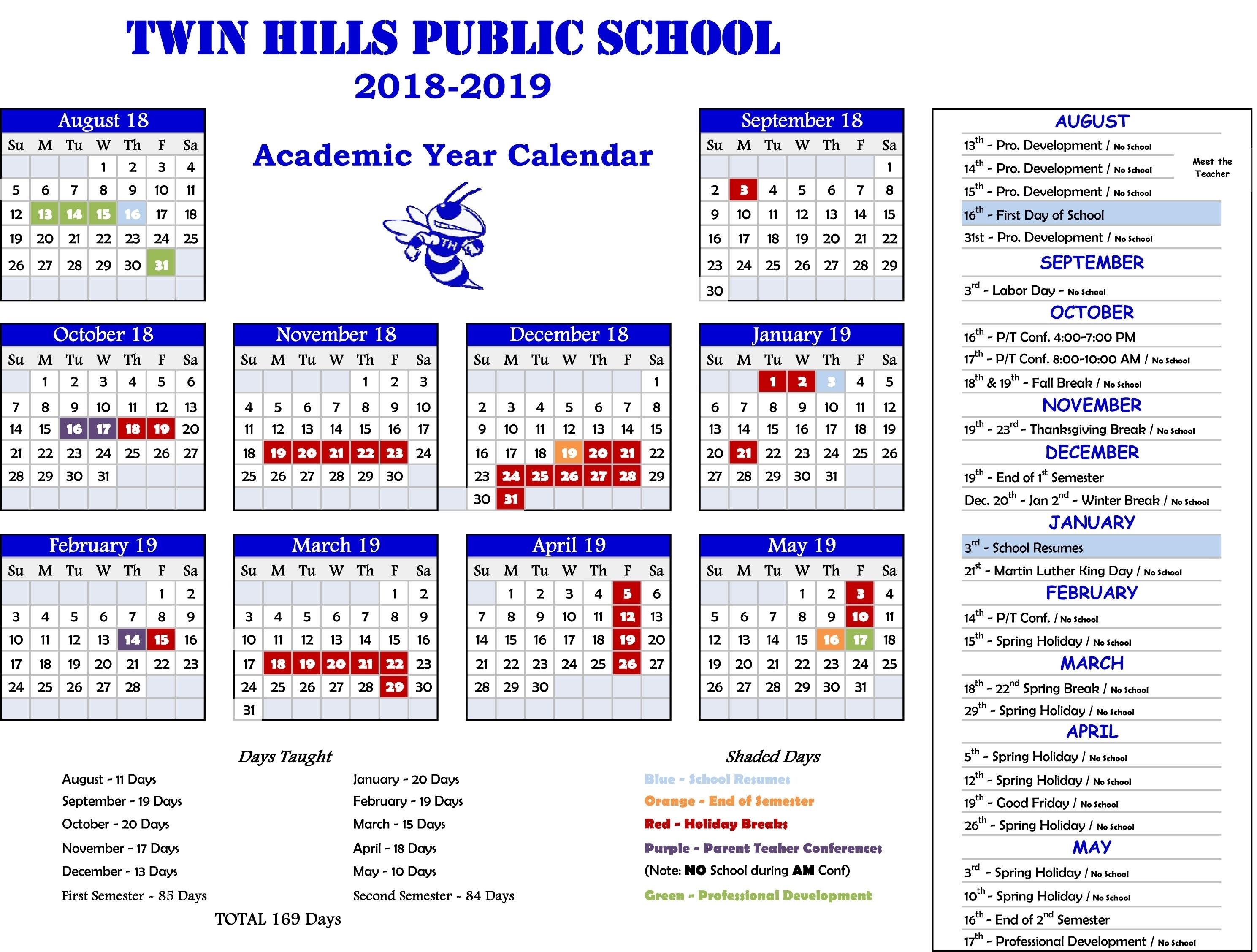 Incredible 7 Hills School Calendar • Printable Blank Calendar Template_7 Hills School Calendar