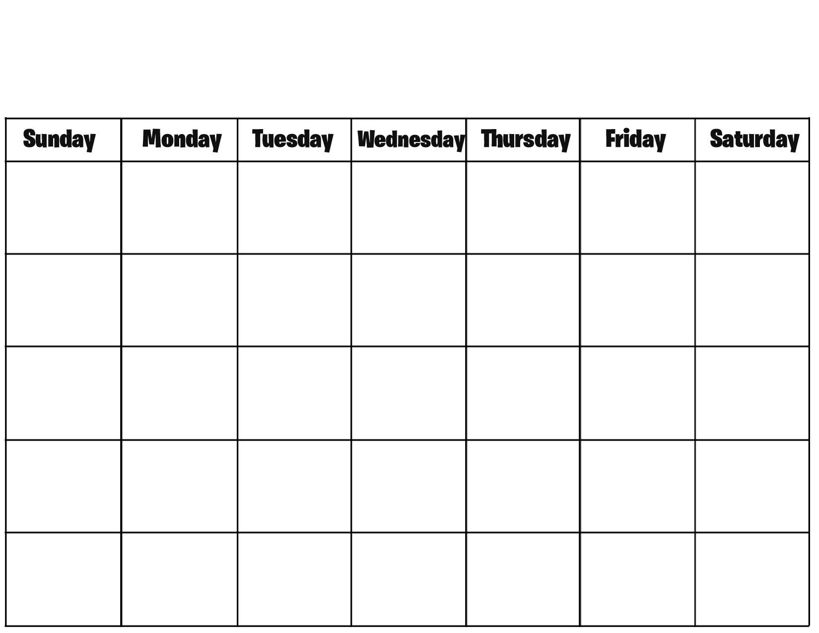 Incredible Calendar Blank For Printing • Printable Blank Calendar_Free Calendar Blanks To Print
