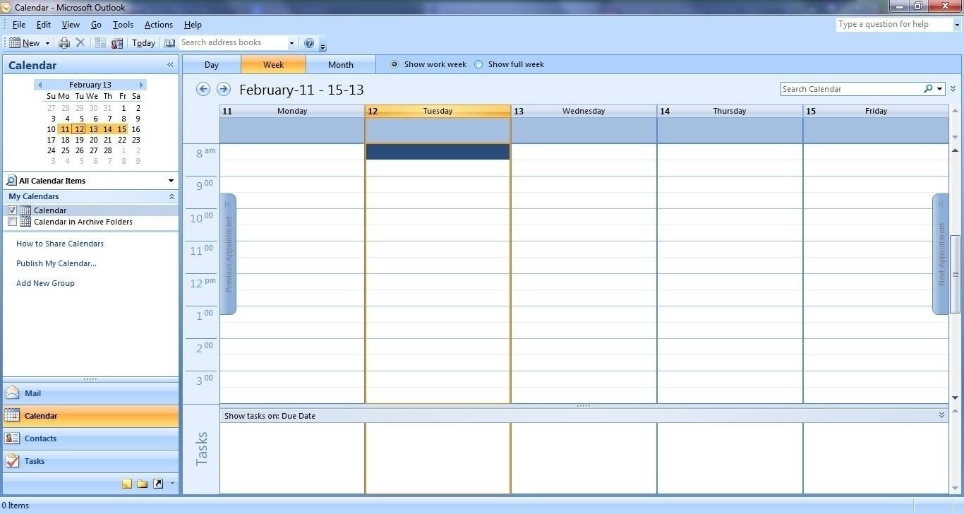 Incredible Calendar Blank In Outlook • Printable Blank Calendar Template_Calendar Blank In Outlook