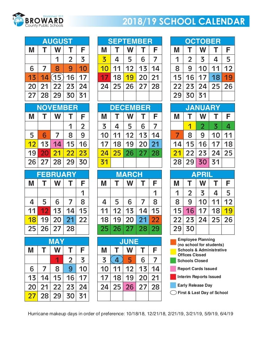 Incredible Calendar School Broward 2019 • Printable Blank Calendar_Calendar School Broward 2020