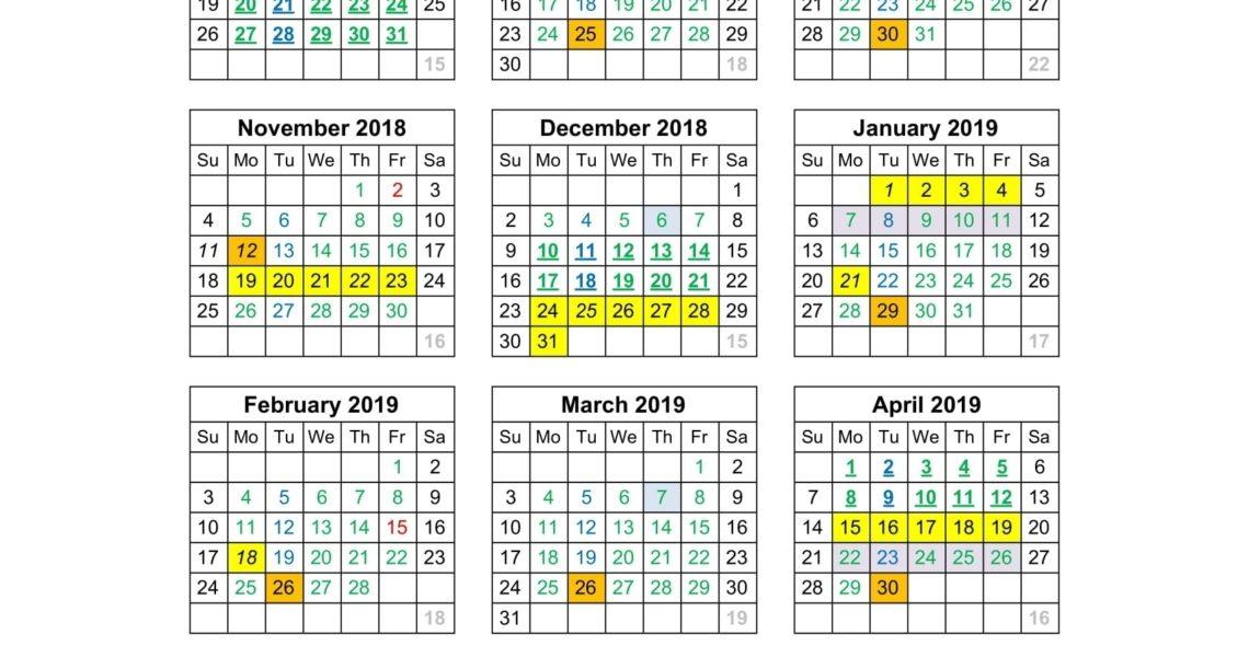 Incredible Number 4 School Calendar • Printable Blank Calendar Template_Number 4 School Calendar