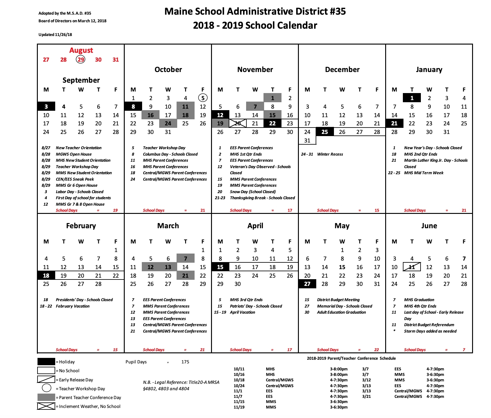 Incredible Rsu 6 School Calendar • Printable Blank Calendar Template_Rsu 6 School Calendar
