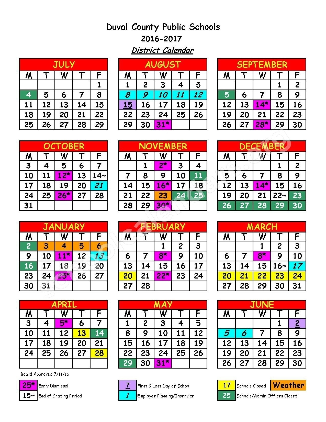 Incredible School Calendar Duval County • Printable Blank Calendar_School Calendar Duval County
