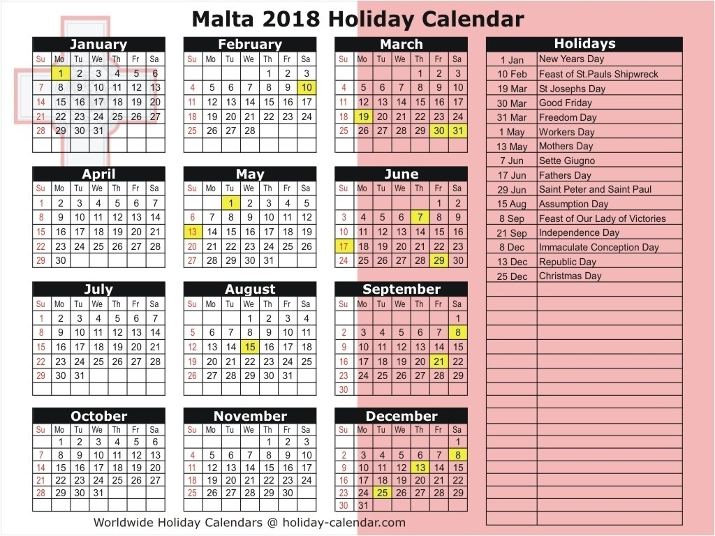 Incredible School Calendar Malta 2019 • Printable Blank Calendar_School Calendar Malta 2020
