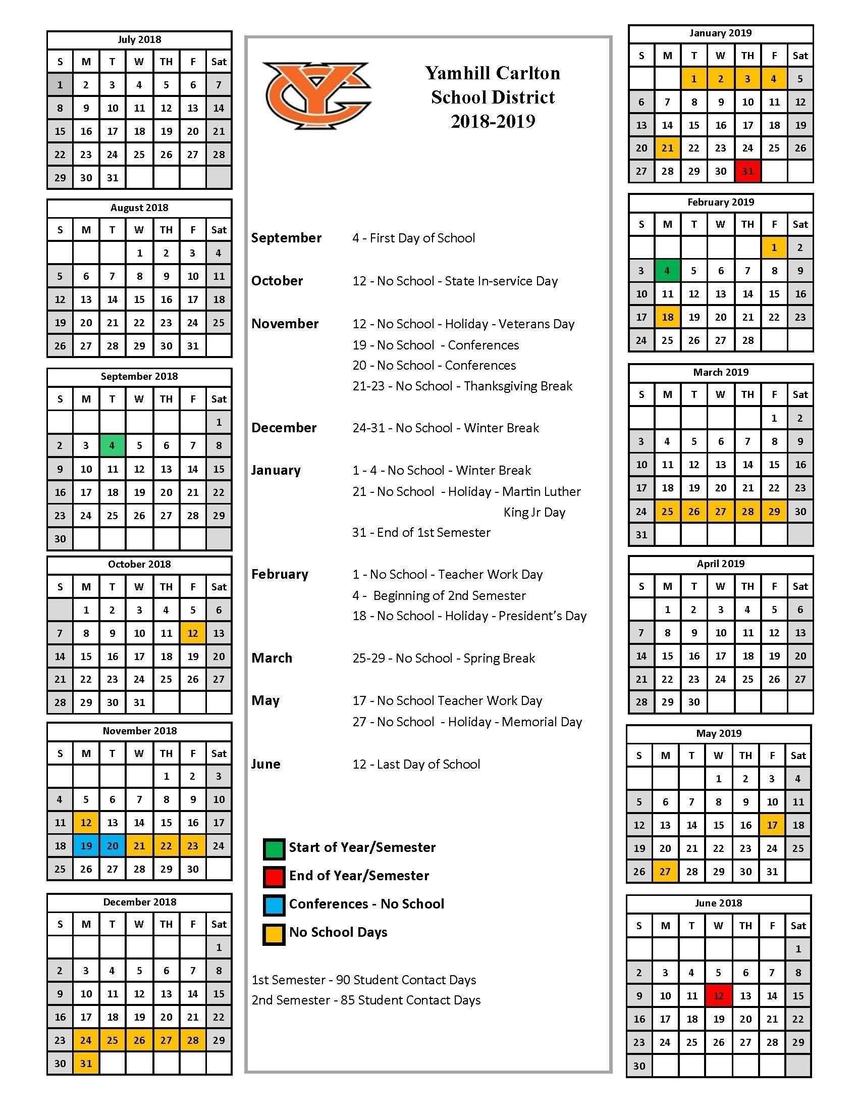 Incredible School Calendar Polk County 2019 • Printable Blank_School Calendar Polk County 2020