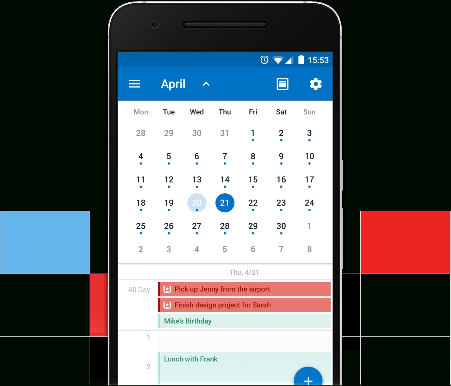 Introducing The Wunderlist Calendar App For Outlook On Iphone, Ipad_Iphone 4 Calendar Icon