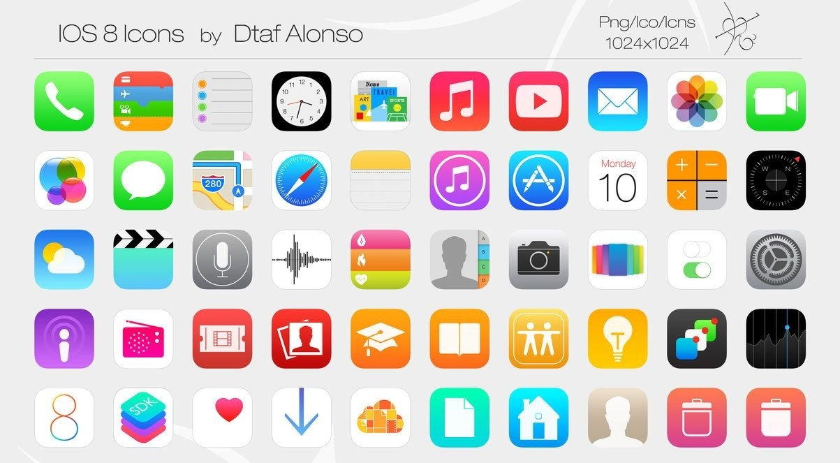 Ios 8 Icons (Update-1024X1024) By Dtafalonso | Icons | Iphone Icon_Countdown Calendar For Iphone