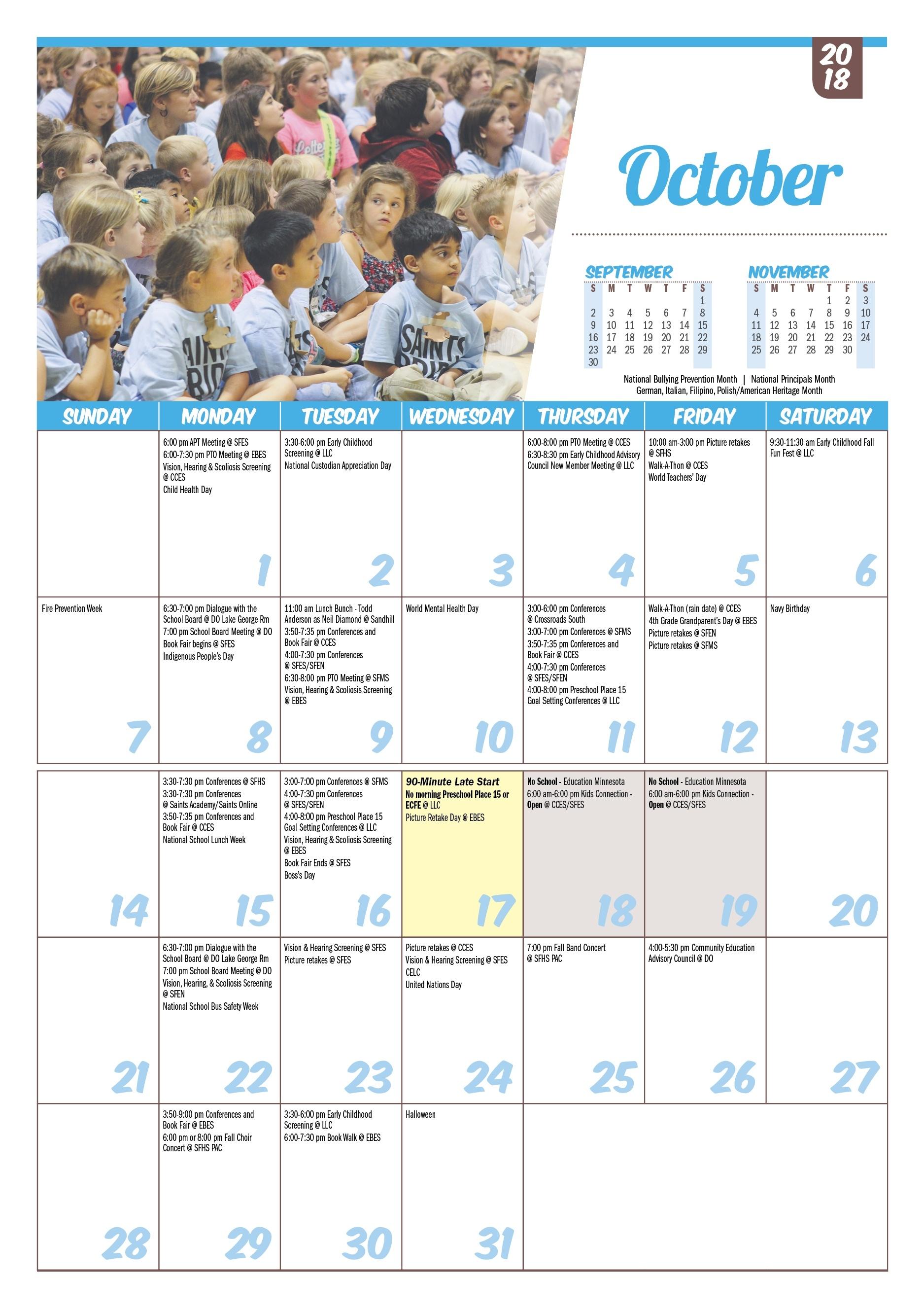Isd 15, St. Francis: Printable Calendars_Anderson 5 School Calendar