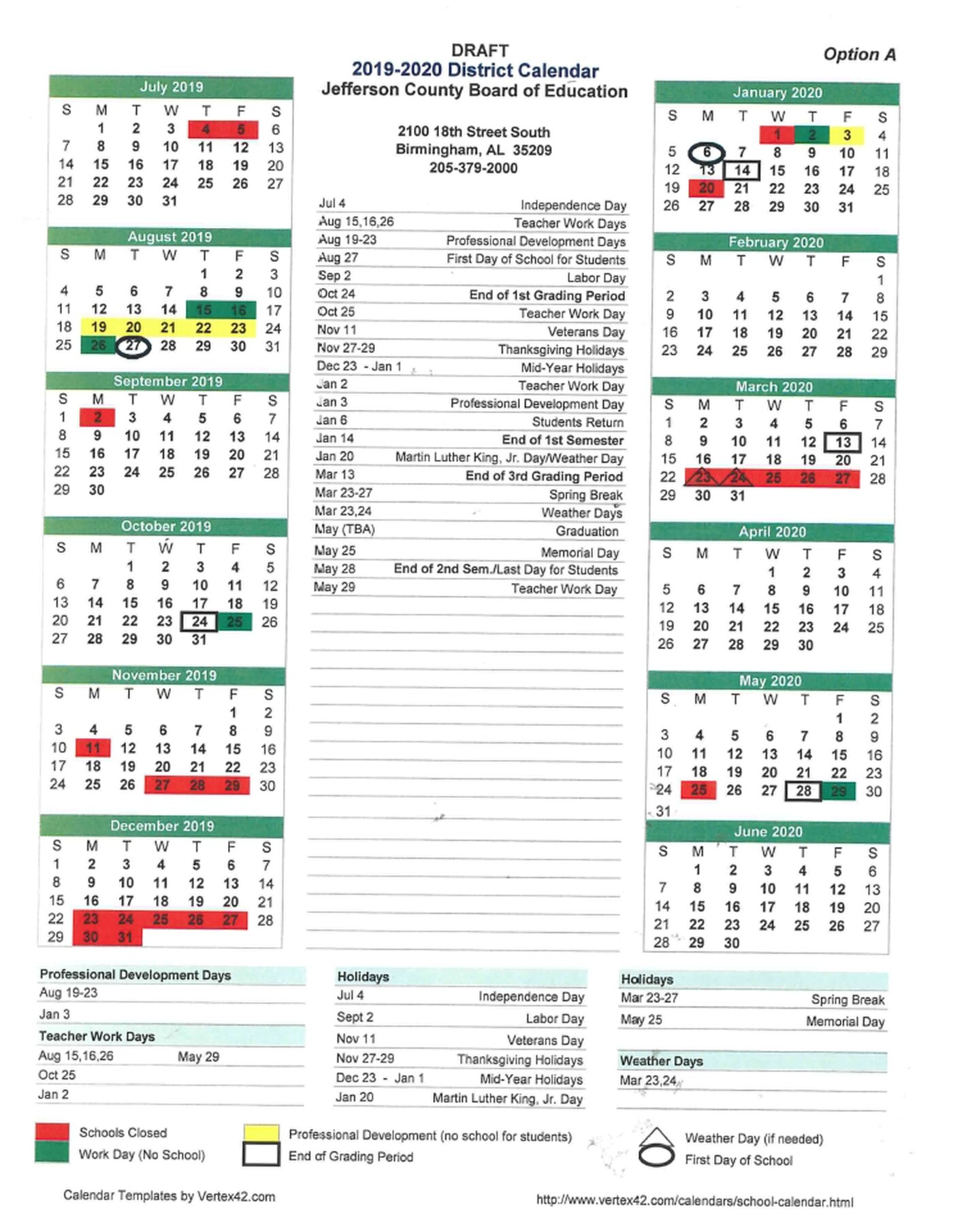 Jefferson County School Students Could Start School In September And_School Calendar Jefferson County Alabama