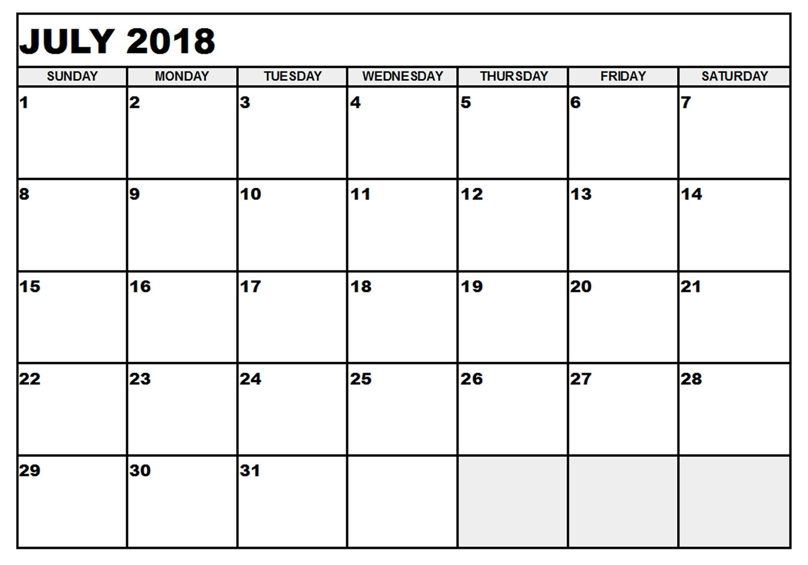 July 17 Calendar | Thekpark-Hadong_Blank Calendar July 17