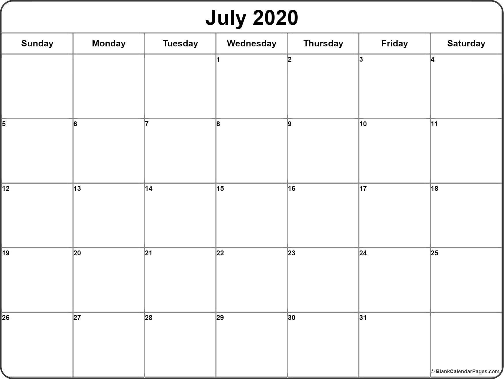 July 2020 Calendar  </p>   </div>        <br>     <div class=