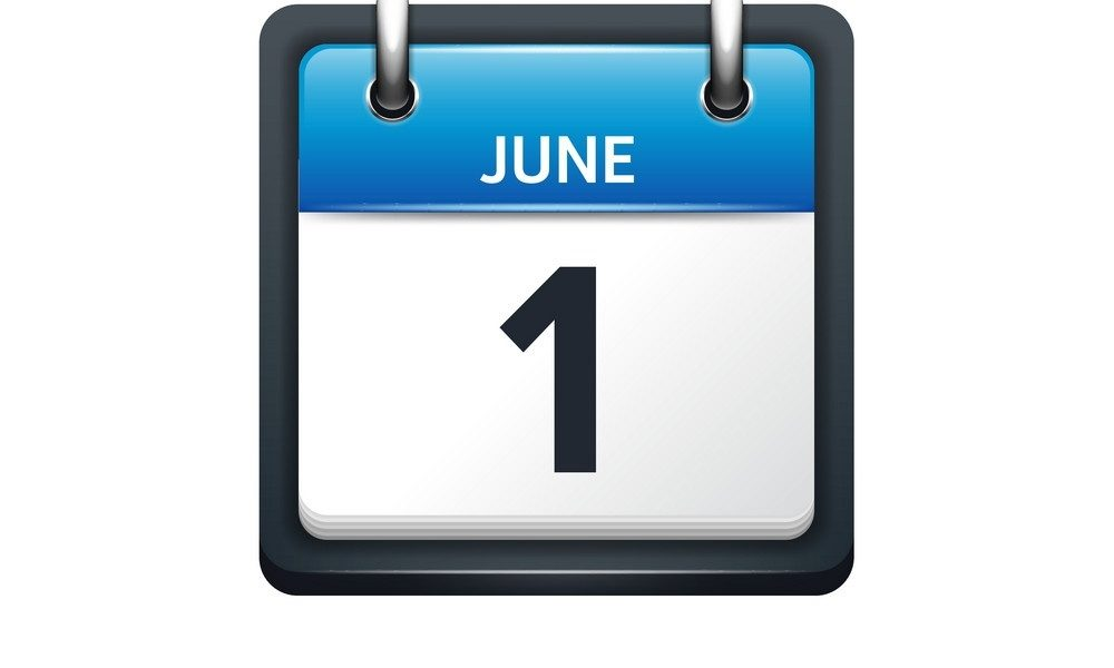 June 1 Calendar Icon Flat_June 1 Calendar Icon