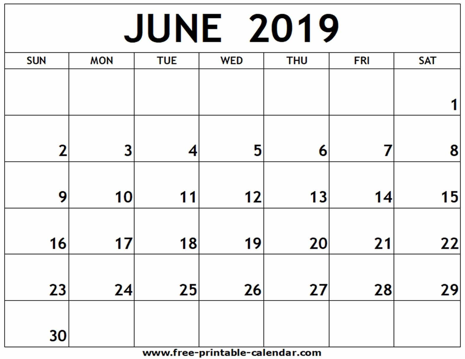 June 2019 Printable Calendar - Free-Printable-Calendar_Calendar For Printing June 2019