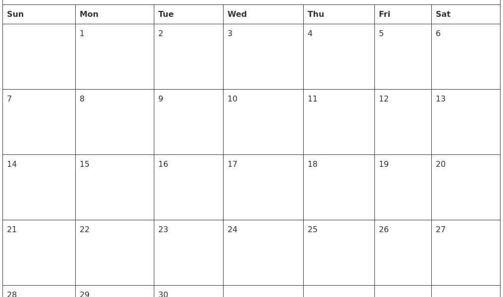 June 2020 Free Printable Calendar Templates_Blank Calendar June 2020 Pdf