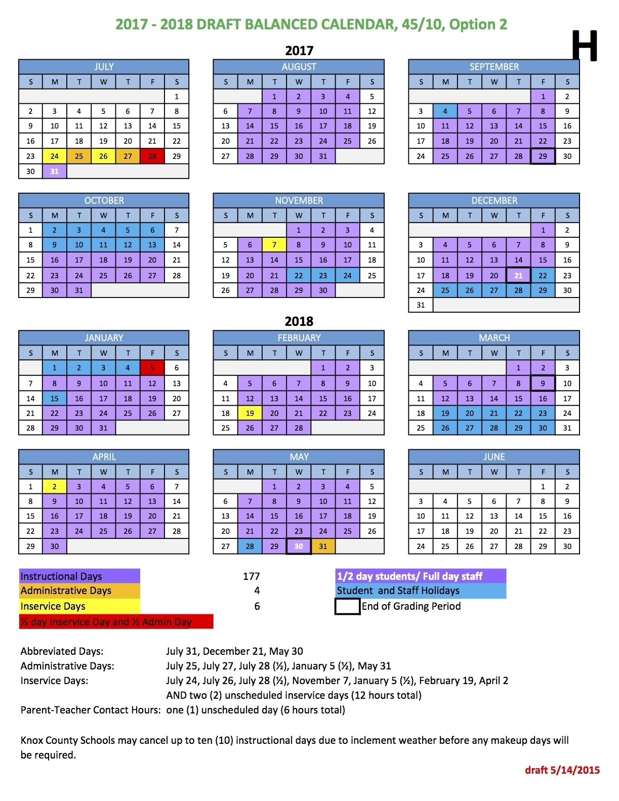 Knox County Schools Calendar | Isacl_School Calendar Knox County