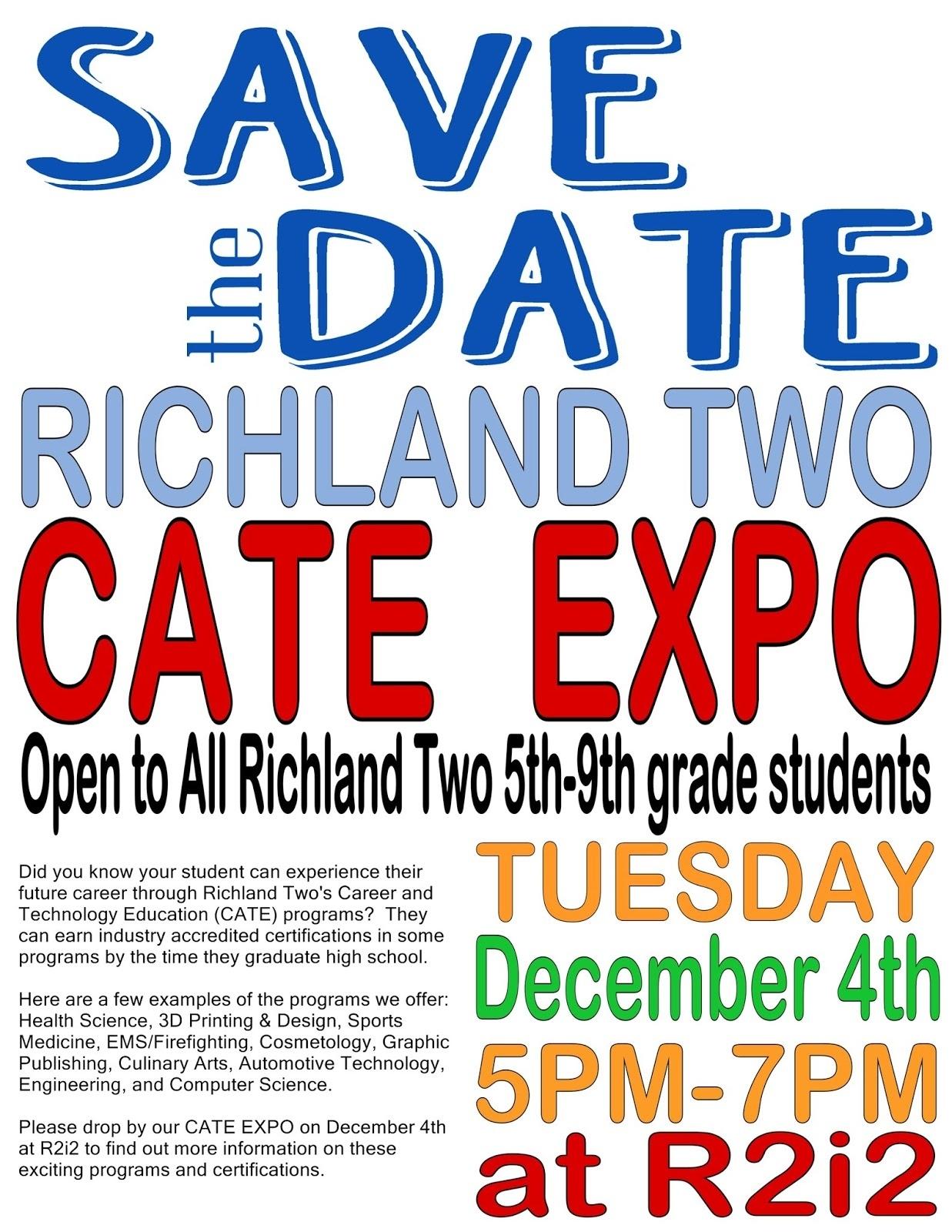 Lake Carolina Elementary Communigator: Richland 2 Cate Expo_Richland 2 School Calendar